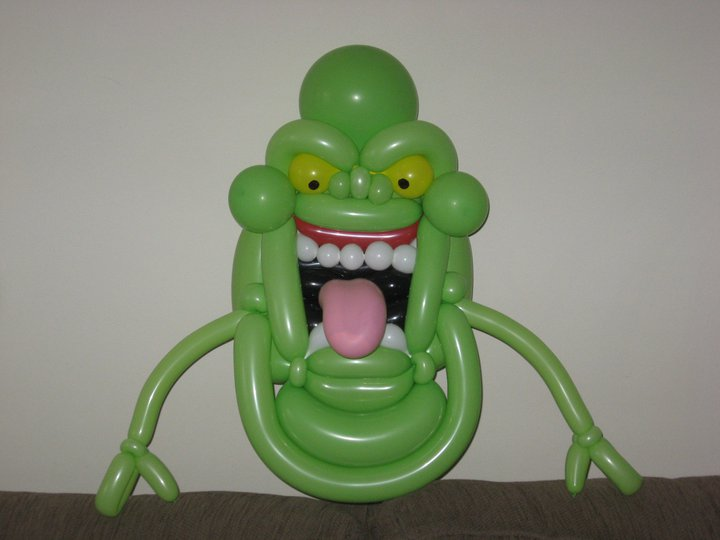 Slimer balloons, big and small!